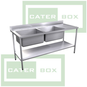 Commercial Double Bowl Sink